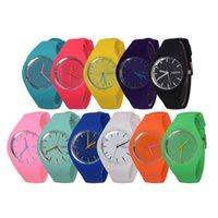 ice watches - Fashion Ice cream color Ultra thin fashion gift silicone watch Geneva silicone Wristwatch W212