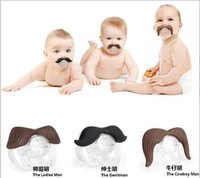 Wholesale 300 BBA4641 hot baby pacifier funny pacifier Cute Teeth Mustache Infant Pacifier Orthodontic Dummy Beard Nipples Pacifiers Infant Pacifier