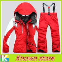 ski suit women - Cheap color Ski Suits Jacket Pants Snowboard Windproof Waterproof Clothing Skiing Clothing Wear Outdoor Coat For