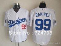 angeles team - 30 Teams New Good Quality Los Angeles Dodgers Manny Ramirez Jerseys Gray Baseball Jerseys Sports Jersey
