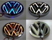 car rear led lights - 5D VW CAR Rear LED Light Badge Logo For GOLF MAGOTAN CC TIGUAN BORA SCIROCCO Dia cm White Orange Blue Red ABS Material