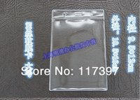 Wholesale Size X16 cm Clear Plastic transverse ID Card Holders PVC Clear Name Card Credit Case Certificate Plastic Transverse