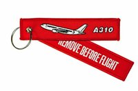 aviation flight bags - Airbus A310 Remove Before Flight Key Chain Aviation Luggage Motorcycle Pilot Crew Bag Tag x cm