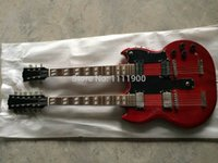 chibson - 2015 New Chibson Red double necks electic guitar cherry SG string string double arms guitar copy
