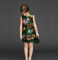 Wholesale high quality baby Girl Dress new Designer Girls Dresses Kids Clothing party Princess Girls Dresses Baby Kids Fashion Girls Clothes bc