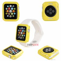 Wholesale New Soft Silicon TPU Case Cover for Apple Watch MM iWatch Colors