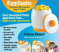 Wholesale Brand New Egg Tastic Microwave Egg Cooker Poacher Ceramic Cup Boiled Eggs Tools Fast Fluffy Eggs With Logo Packing