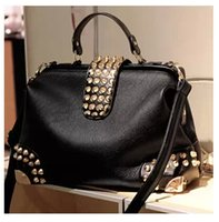 doctor bag - 2015New Fashion Famous Brand Women Messenger Big Doctor Bag Europe Ladies Tote Clutch Diamond Bags Female Shoulder Bag