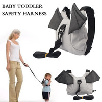 baby bat - Hot Harness Removable Strap Baby Kids Keeper Toddler Safety Rein Ladybug Bat Backpack Bag Small