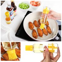 honey bottles - Kitchen Accessories Silicone Honey Oil Bottle with Brush for Barbecue Cooking Baking Pancake BBQ Tools barbacoa Storage Bottles H14932
