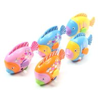 Wholesale 1pc Children Kid Funny Plastic Colorful Fish Shaped Clockwork Wind Up Party Toy