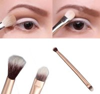 Wholesale New Arrivals Beauty Pro Eyeshadow Blending Brushes Eye Makeup Double Ended Brush Cosmetic Tool T239