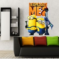 Wholesale self adhesive wallpaper for kids bedroom Removable d wallpaper for kids Despicable Me Minion wallpapers wall paper cm d wallpaper