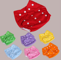 Wholesale Hot Baby Diapers Children Cloth Diaper Reusable Nappies Adjustable Diaper Covers Washable Colors Choose