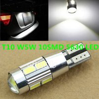 Wholesale 1 White T10 W5W SMD LED Canbus No Error Car Auto License Plate Light Bulb parking