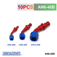 Wholesale TANSKY AN6 AN6 Degree Push On Fuel Hose End Car Fittings to Barb Adaptor AN6 B