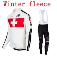 Wholesale Cycling jersey ASSOS Winter thermal fleece white clothing wielertrui maillot cyclist ropa ciclismo Radtrikot Mountain Bike Equipment