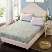 Wholesale Home Textile Bedding Colored Mattress Protector Cover Fitted Bed Sheet for Girls OM006