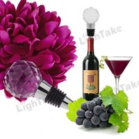 Wholesale Hot sale noble Crystal Diamond Design Wine Bottle Stopper Transparent
