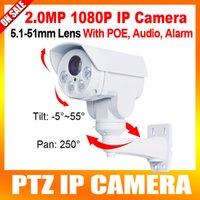 Wholesale 2016 New Model MP Waterproof HD P PTZ IP Mini Camera With POE Support Alarm Audio In Sony Exmor CMOS Sensor x Optical Zoom IR M