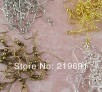 Wholesale Iron Earring hooks fashion accessory jewelry DIY colours Golden Brozen Rhodium Silver