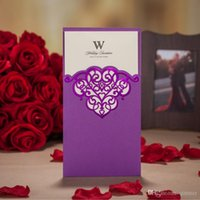 Wholesale Creative Personality Wedding Invitations Laser Cutting Invitation Card for Wedding Blank Inner Sheet Hollow Birthday Invitations
