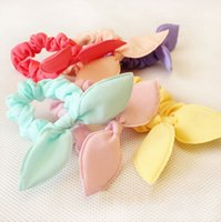 Wholesale 10x Rabbit Ear Bow Candy Hair Accessories Elastic Headband Hairband Belt Gum for Hair turbantes tiara de cabelo turbante