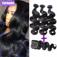 Wholesale Malaysian Virgin Hair Hair Bundles With Lace Closure Human Hair Weave A Malaysian Body Wave Remy Human Hair Weft Extension
