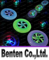 Wholesale Chrismas gift toy flash frisbee colorful disc rotating fly Luminous UFO LED frisbee toys LLFA75
