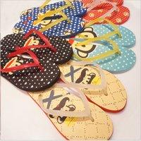 Wholesale 2015summer new cartoon flip flops luminous PVC shoe LACES female slippers non slip Candy color beach Cool Sandals Special offer
