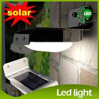 Wholesale Hot Solar Garden Lights Waterproof Wireless LEDs Outdoor Wall Lamps Solar Motion Detection Sensor Light LED Wall Garden Yard Solar Lights