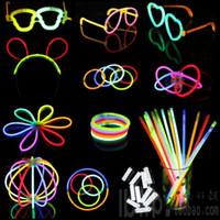 Wholesale 200pcs Roll High Quality Light Stick Led Color Flashing Bracelet Necklace Glasses Toys Good Festival item Multi color