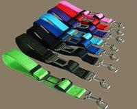 Wholesale 70x2 cm dog collar harness Cat Pet Safety Seatbelt Car Vehicle Auto Seat Belt Adjustable Harness Lead Clip Width cm Leash