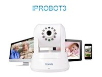 Wholesale 2015 new White Tenvis Snow Iprobot3 HD P Megapixels Ip Camera Wireless Monitor Support SD MAC Memory Card Up to GB