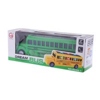 Wholesale Electric school Bus Toy with Flashing Lights Music Song Bump Go Action