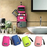 Wholesale 2015 Hot Cosmetic Case Makeup Travel Toiletry Hanging Purse Holder Beauty Portable Wash Make up Bag Organizer With Hook