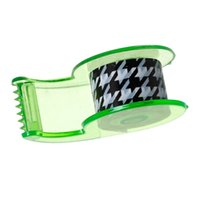 Wholesale OPP Adhesive Tape With Tape Dispenser Black White Lattice Pattern cm quot x mm quot Packets Approx Rolls new