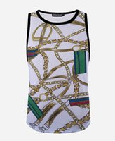 baroque chain print - w20151223 Men women summer breathable mesh tank tops vintage baroque style shackle chain d t shirt loose sleeveless tee shirt plus size