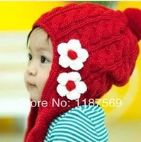 big earmuffs - 2014 Top Fasion New Freeshipping Floral Unisex Autumn Winter Children s Hat Two Little Flower Big Girl s Flowers Earmuffs Braid