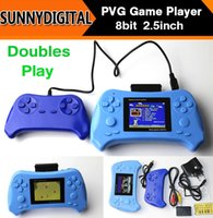 Wholesale 2015 New Hot sale PVG Game Player Inch PVE Handheld Game Consoles Bits doubles play Game Player