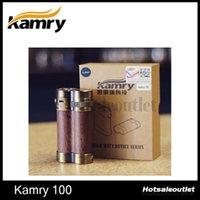 Kamry Kamry 100W 18650 Kamry100W Box Mod 0.3 Sub Ohm Vapor Wooden Kamry 100W Mod 7-100W High Wattage Fit 2pcs 18650 Battery E-cigarette Mods 100% Authentic