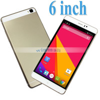Cheap 6 inch Android Cell Phone MTK6572 Dual Core 3G WCDMA Dual SIM Unlocked Smartphone + Free Cover Case