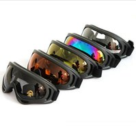 ski goggles glasses - Black Frame Snow Googles Windproof UV400 Motorcycle Snowmobile Ski Goggles Eyewear Sports Protective Safety Glasses with strap
