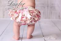 al por mayor nuevos pañales para bebés-Niña nueva llegada niños infantil niño bombacho satén encaje bloomers flor rosa bloomers impresión floral pañal cubre bowknot lindo cortos
