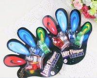 big ring racing - 480pcs factory sale LED Finger Lamp x Color LED laser finger beams party Light up finger ring laser lights with blister package