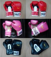 Wholesale PU Leather boxing Gloves red black color Fight Gloves Everlast Boxing Gloves color to choose Fiber Material Professional Sanda Gloves