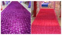 earthing mat - 2015 Wedding items rose petals carpet wedding stage T stage carpet mat new creative tablecloth on sale