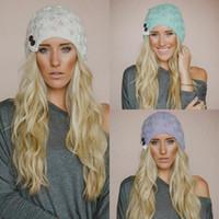 beret wool beanie - Winter Warm Women Knit Hat Beanies Girls Crochet Hat Boho Cap Lace Trim Beanie Beret Skull Cap Ski Sport Slouchy Hat
