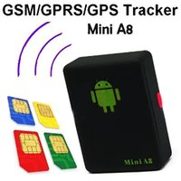 Wholesale Mini A8 GPS Personal TRACKER Quad Band GSM GPRS LBS Audio Bug Monitor with Sound control Dialing SOS LocationTracking System For Kids JF B9