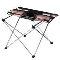 Wholesale Portable Ultra light Outdoor Picnic Table Aluminium Alloy Foldable Table Folding Table Desk for Travel Camping Fishing BBQ Tool